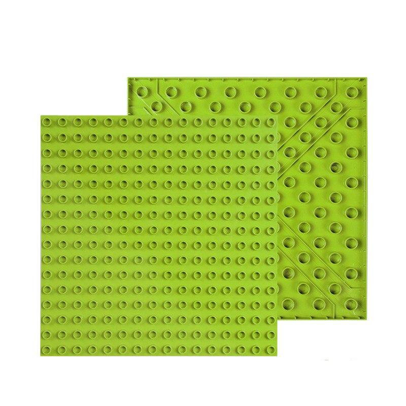 256 Duploe Tijolos Grandes Pontos Dupla Face Placa de Base Placa de Base 16*16 Building Blocks Brinquedos Para Crianças Dom Compatível duplo Oco