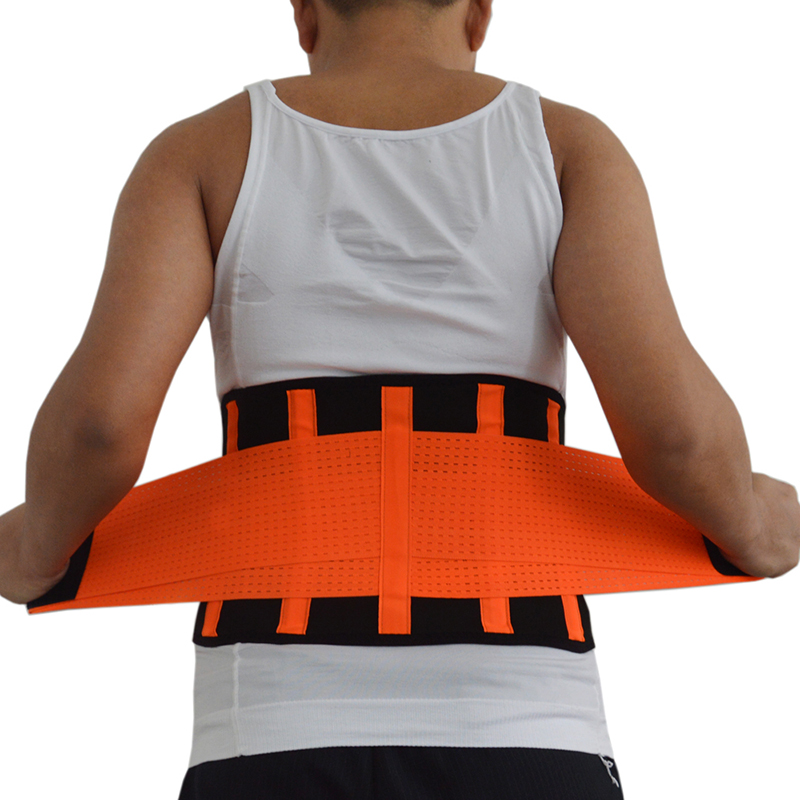 Colorful Waist Support Breathable Mesh Back Waist Support Belt Lose Weight Lumbar Braces Gym Sweat Belt Sport Accessories