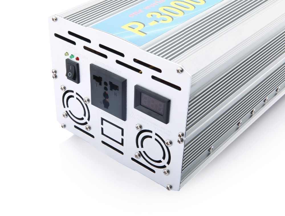 3KW/3000W szczyt 6000w inwerter solarny przetwornica napięcia DC 12 V/24 V/48 V/60 V/72 V do AC 220V 230V 240V zmodyfikowany falownik falowy