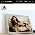 T805C Inteligente tablet pc android tablet pc de 10.1 pulgadas Android tablet Octa core tablet pc Ram 4 GB Rom 64 GB Blanco oro