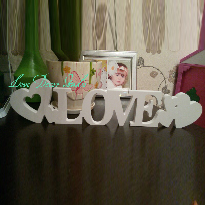 Free shipping Standing Love Letters Plaque Decoration Gift wedding decoration letters love sign He gave a beautiful baby gift