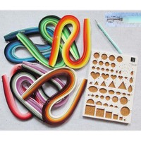 DIY Craft Quilling Kits 36 colors 0.5x54cm Quilling Paper 6bags with Template Board 1pc and Slotted Pen 1pc free shipping