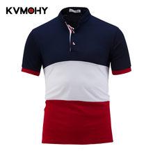 Polo Homens Da Camisa do Polo Listrada Business Casual Marca Polo do  Algodão Dos Homens Slim Fit Camisas Para Homens Polos Hombr. f5e290f88c18c