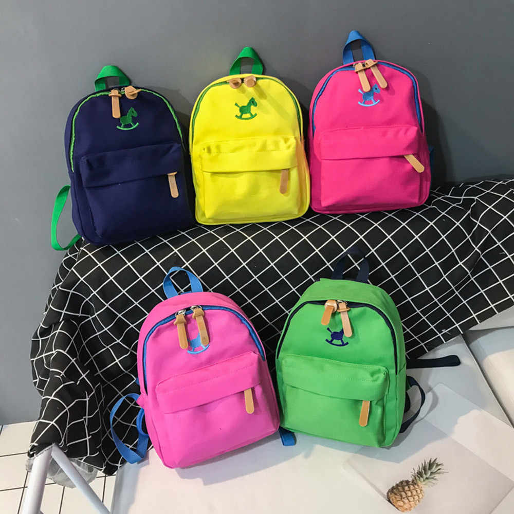 dfa4470426fe ... Aelicy Kids Backpack Horse Animal Print Child Baby Girls Backpack  Toddler Boys School Bag