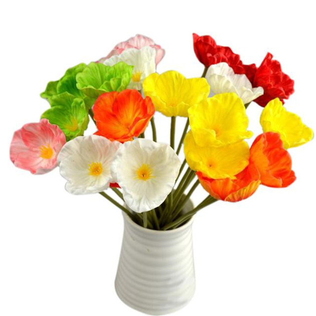 Happy sale hot selling artificial mini real touch poppies flowers happy sale hot selling artificial mini real touch poppies flowers decorative bouquet for home decor sep923 mightylinksfo