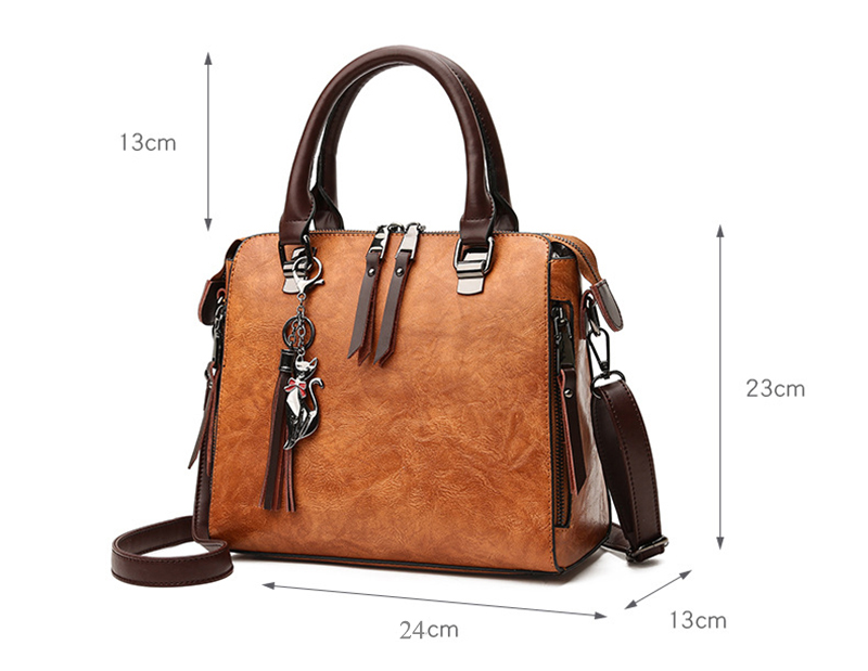 pure leather bag front