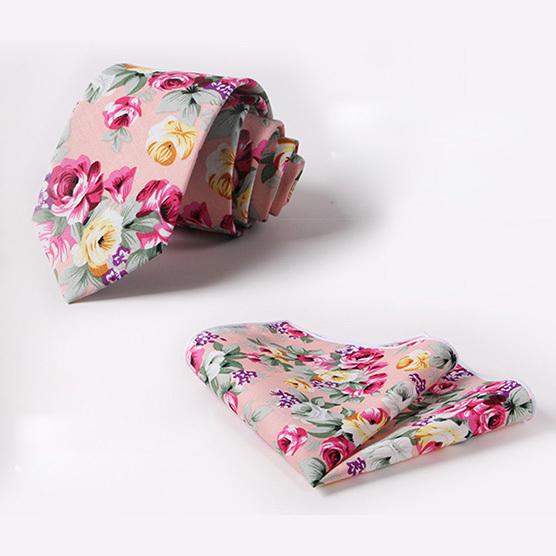 Nuevos señores delgado corbata para hombre corbatas de boda masculina pink flower print kravat caballero ocio lazo corbata pañuelo de mariage