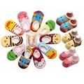 1 par do bebê meias Anti derrapante recém-nascido 0-24 meses algodão Lovely Cute Shoes Animal dos desenhos animados chinelos botas Boy Girl Skid meias / B12