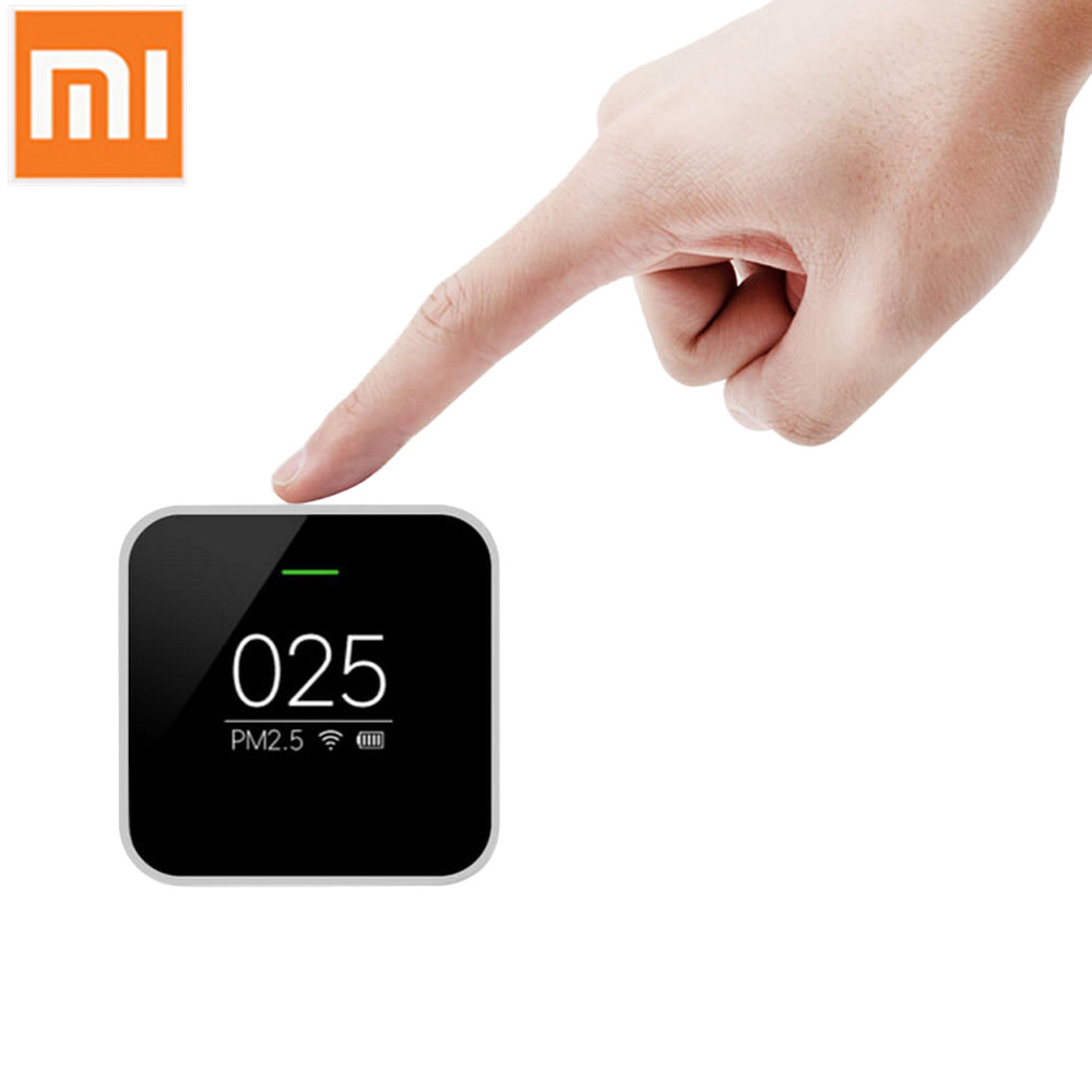 Original Xiaomi Mijia PM2.5 Detector Air Quality Tester OLED Screen Smart Sensor Smart Control APP Adapt Mi Air Purifier Home xiaomi mi smart air purifier 2nd gen hepa home air cleaner app control