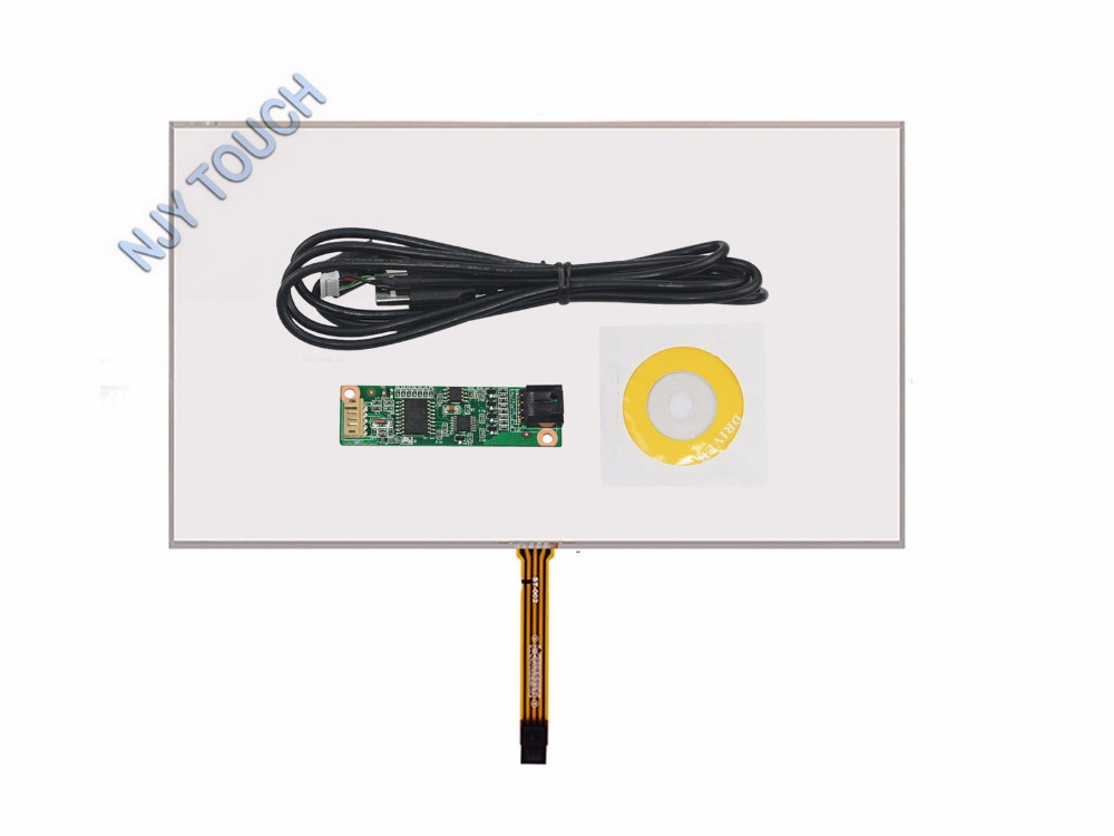 """15.6/"""" inch 359*209 4Wire Resistive Touch Screen Panel USB kit for monitor"""