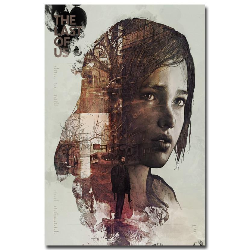 Pēdējais no mums Zīda auduma sienas plakāts Drukāt Zombiju izdzīvošanas šausmu darbība TV spēle Attēli 12x18 20x30 24x36 collas 001