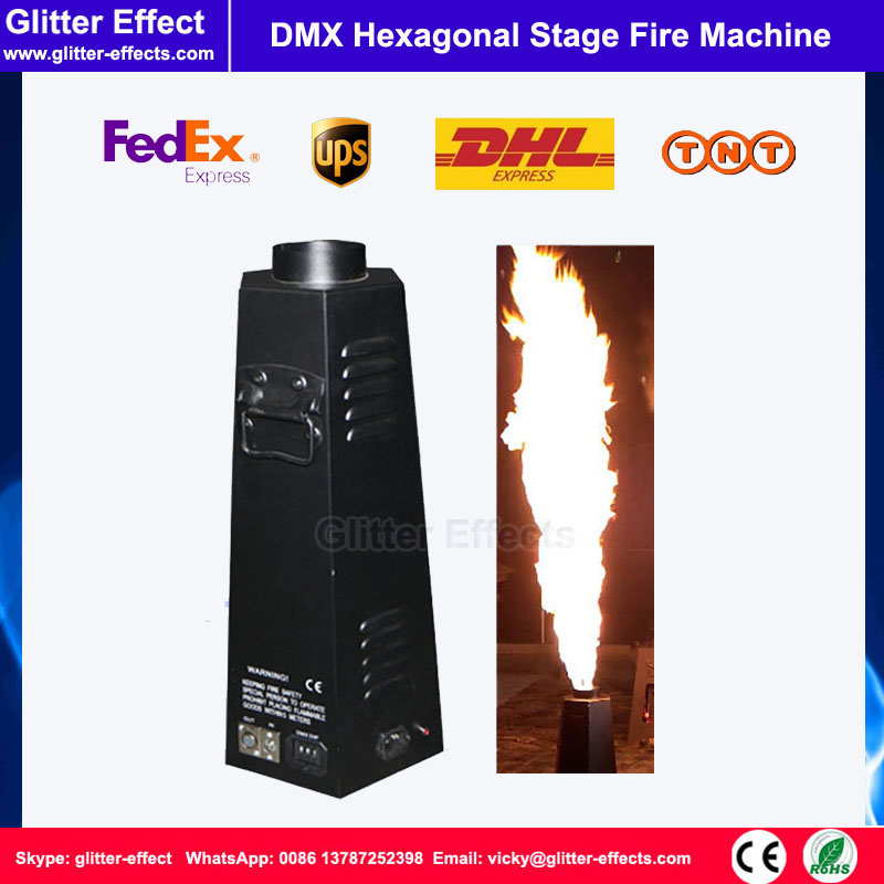 Normal bottle oil fire flame projector Stage show Special Effect DMX 512 hexagon spray fire machine 1-3 meter flame pillar 2pcs lot fire machine flame machine 3m height special effect fire spray machine dmx 512 fire thrower