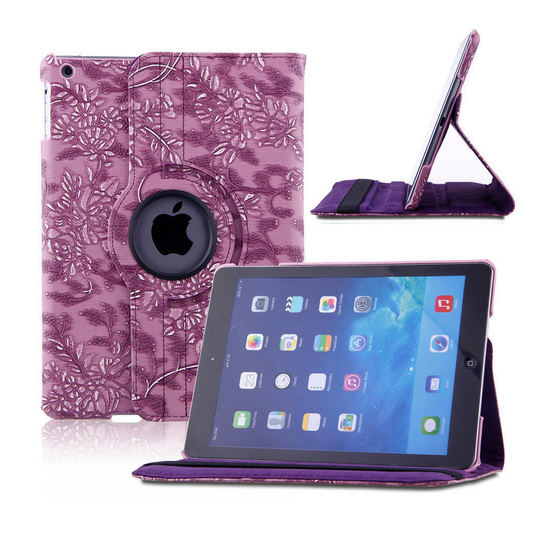 For Apple iPad Air 1 iPad 5 Case 360 Degree Rotating PU Leather Shockproof Stand Smart Case for iPad 6/Air 2 Capa Para