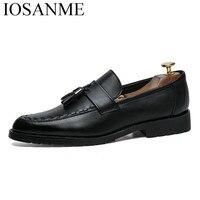 Italian Tassel Business Men Shoes Leather Elegant Formal Dress Flats Designer Office Footwear Luxury Brand Oxford