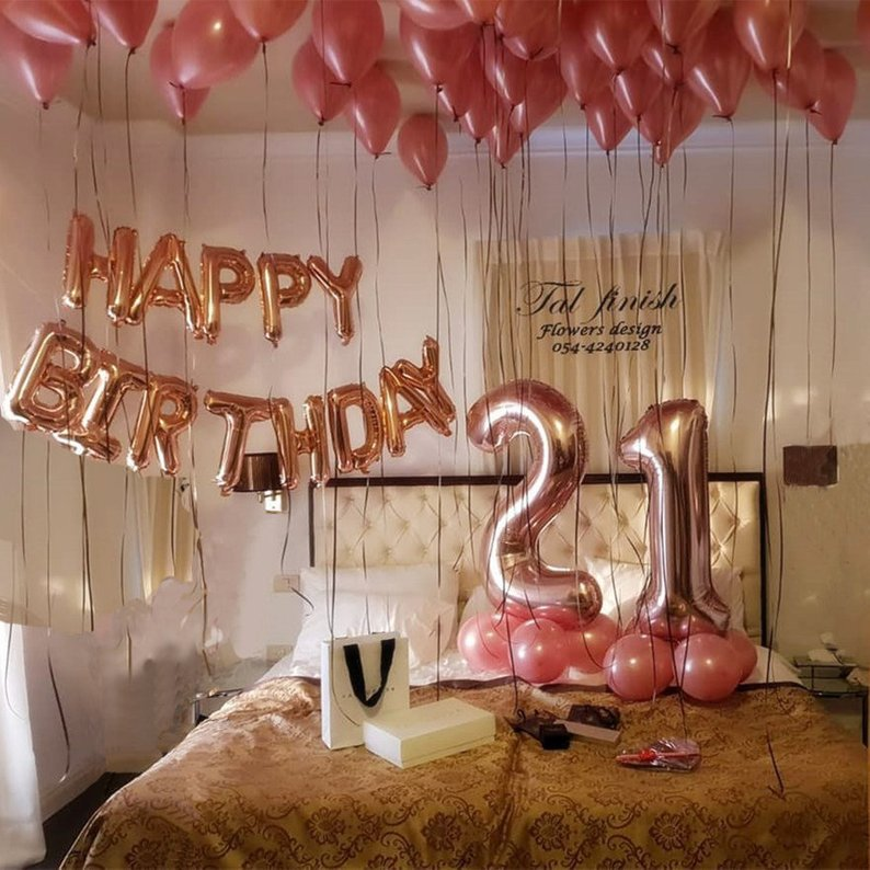 Happy 21st Birthday 18 Balloon Birthday Party Decorations Greeting Cards Party Supply Patterer Party Supplies