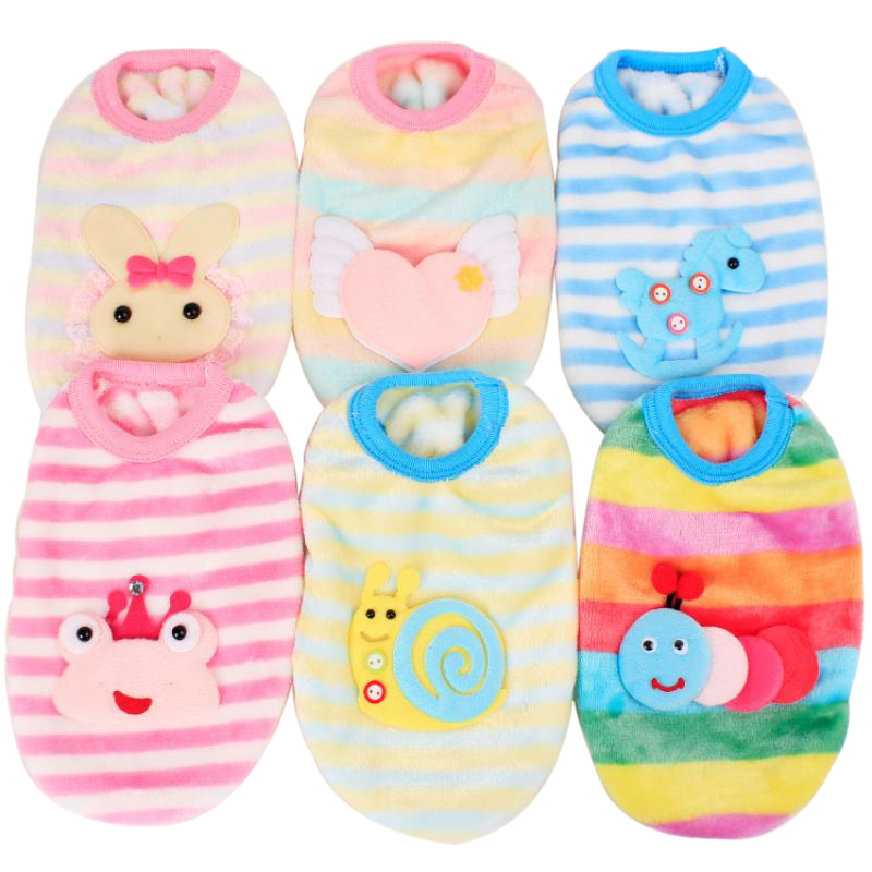 Soft Cartoon Animal Partern Pet Clothes Lovely Animals Design Dog Clothes Frog/Snail/Angel Wing/Horse/Rabbit Pattern P20