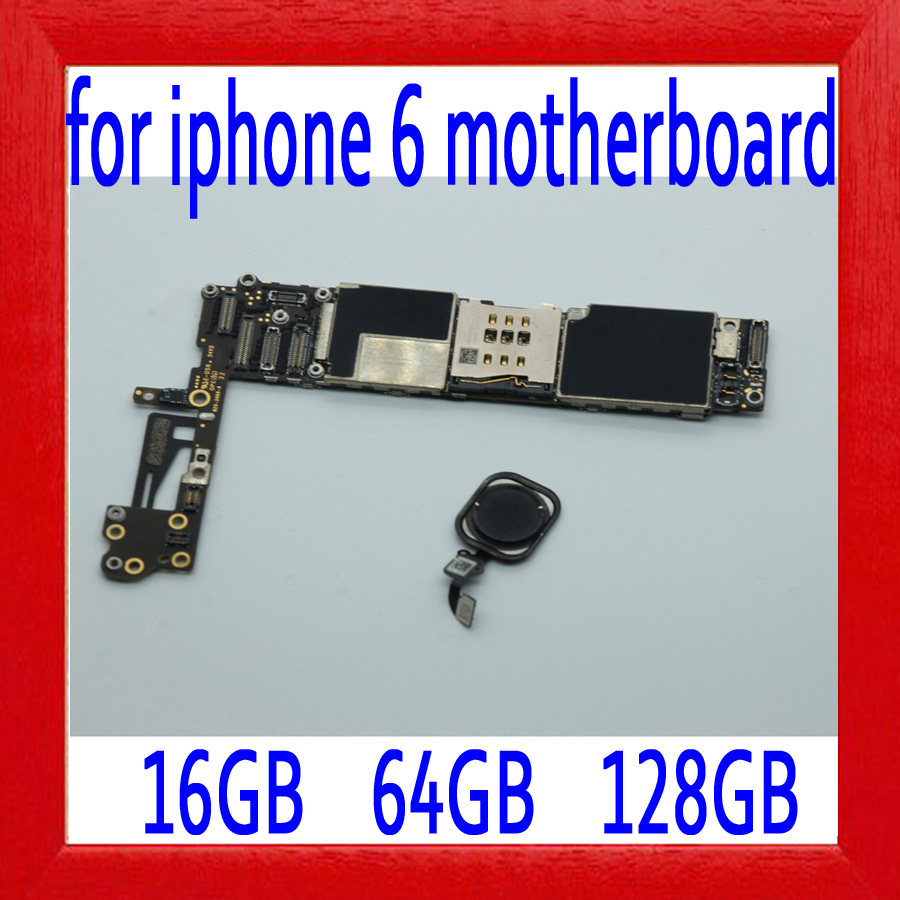 100% Original unlocked for iphone 6 Motherboard with Touch