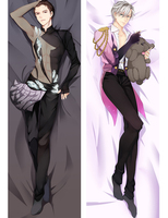YURI On ICE Katsuki Yuri Plisetsky Victor Katsuki Anime Hugging Body Pillow Case Covers