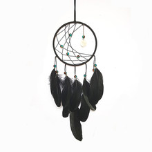 Hot Sale Feather Dream Catching Net Wind Chimes Hanging Accessorie Decoration Figurine Metal Wind Chimes Miniature Craft Gifts(China)
