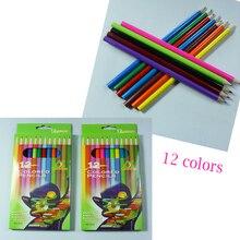 Best Price 12Pcs/Lot Cheapest Watercolour Escolar Colored Pencils Drawing Sketch Pencil Lapis Oficia School Supplies For Kids