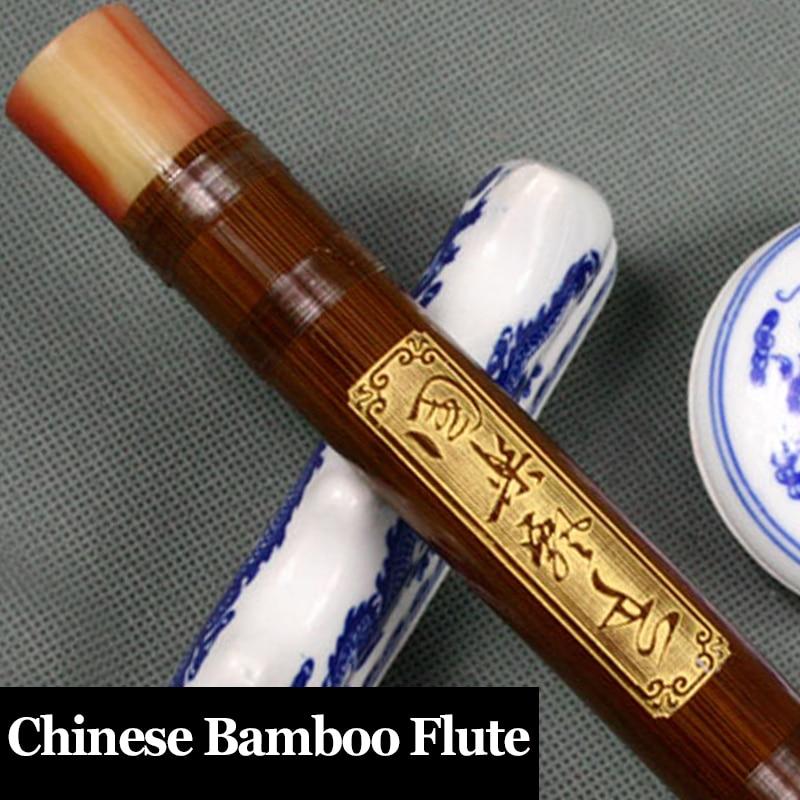 Китайская бамбуковая флейта Профессиональный музыкальный инструмент Flauta этнический поперечный Dizi китайский узел, мембрана, клей в качеств...