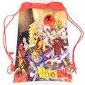 Семь Dragon Ball Мультфильм drawstring детские школьные сумки, дети birthday party Пользу, Mochila эсколар, школа детский рюкзак