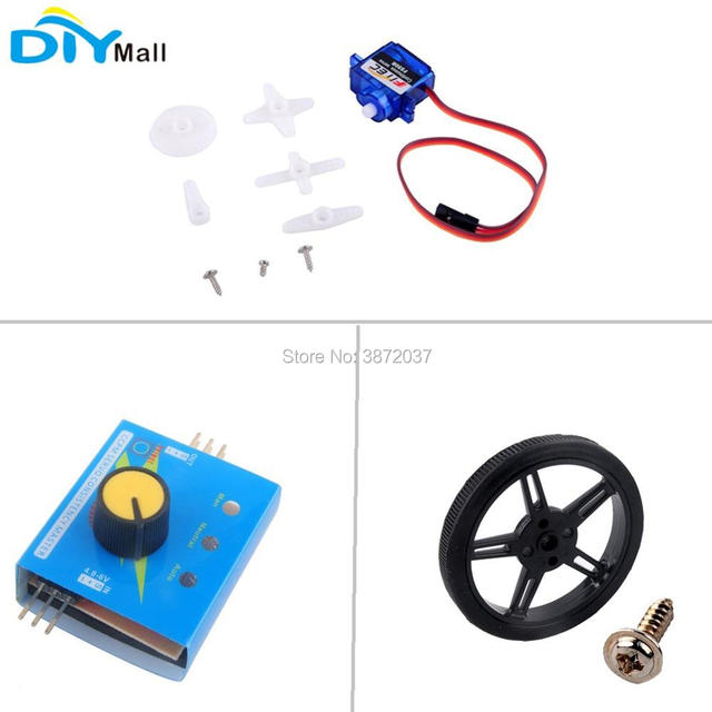 2pcs/lot Feetech FS90R 360 Degree Continuous Rotation Servo Wheel Motor Tester for RC Drone Arduino Smart Car Robot