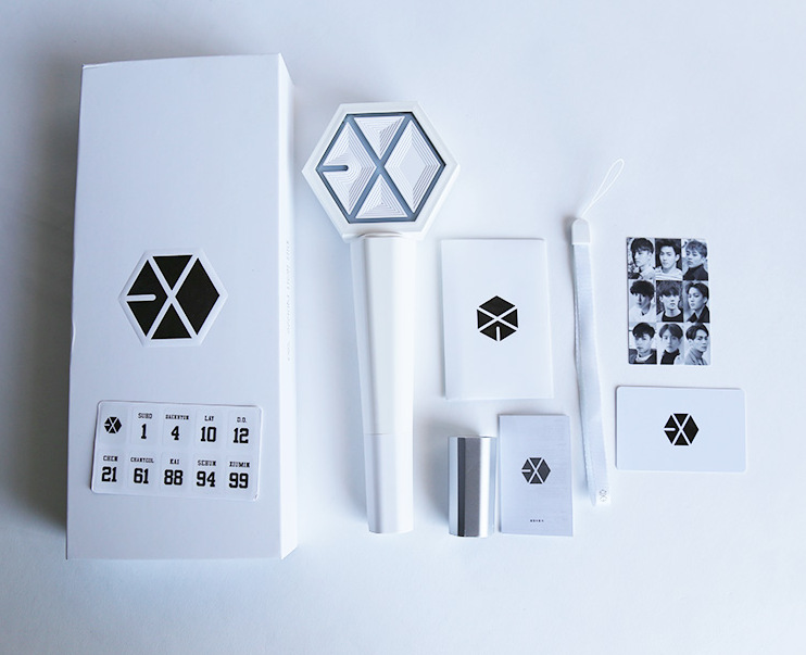 [MYKPOP]EXO Light Stick 3rd Version EXO-L White Concert Light Stick KPOP Fan Gift Collection SA18032503 [tool] 2017 new kpop group exo light stick ver 3 0 sehun chanyeol do glow light stick lamp black white color page 1