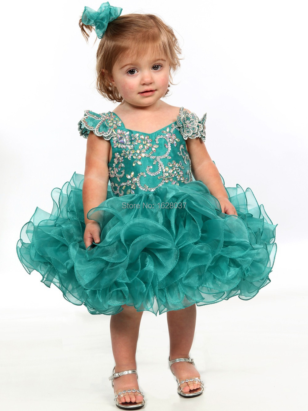 Lovely Fuchsia Teal Organza Girls Cupcakes Dresses Toddler Infant ...