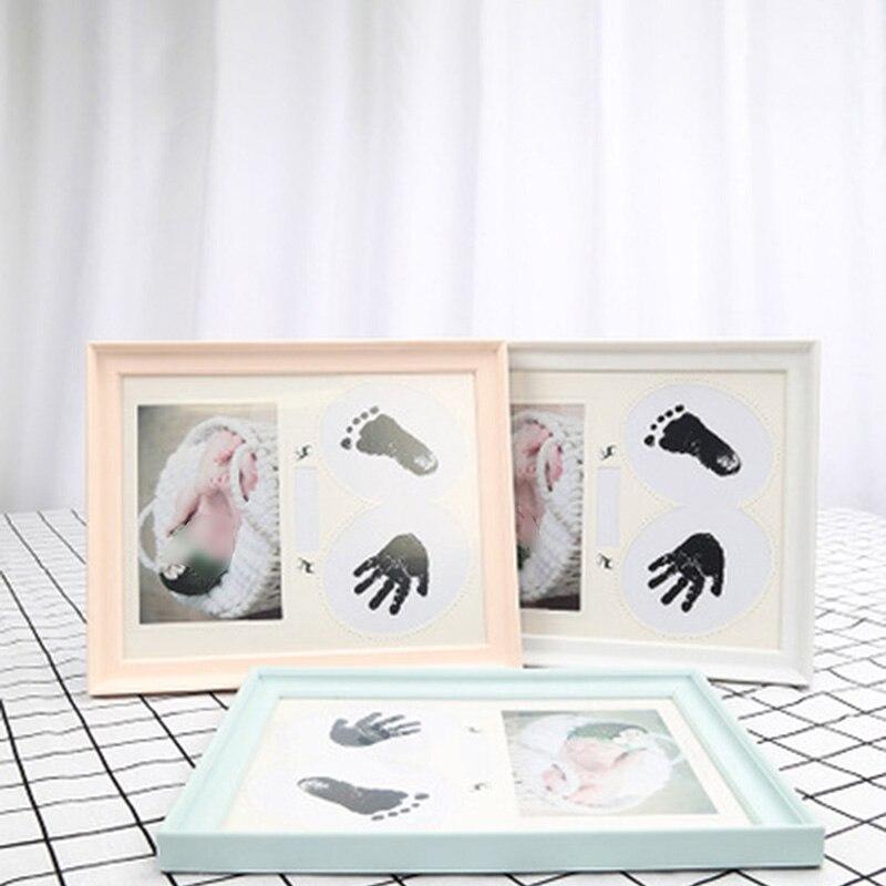 Handabdruck Footprint Memento Neue Neugeborenes Baby Ungiftig Holz ...