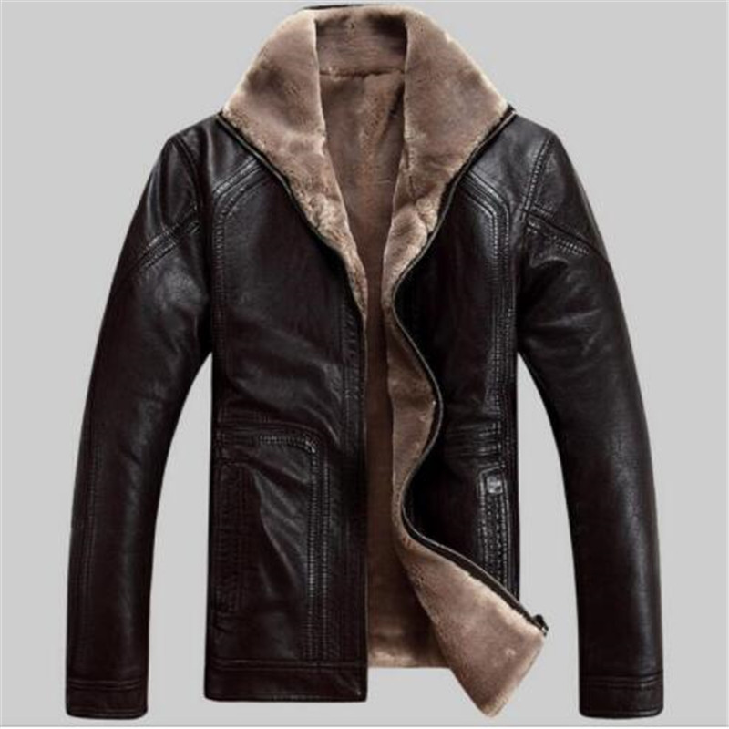 Jacket Genuine-Leather Coat Sheepskin Winter Mens New Short M-5XL Plus-Size EMS