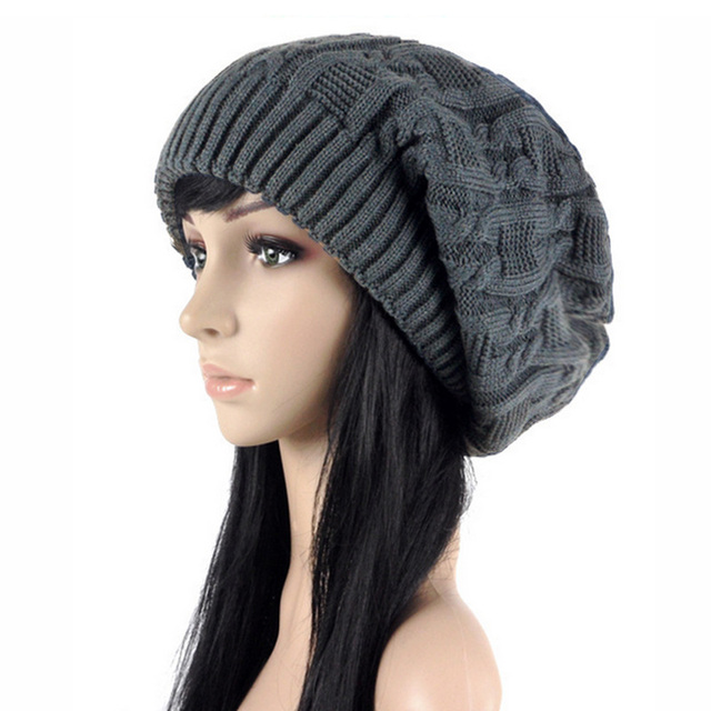 Double Twisted Cap Hats Thick Wool Knitted Hattouca Gorrolady