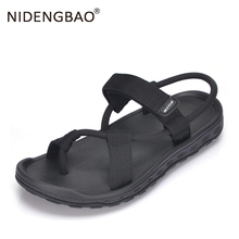 2019 Summer Men Black Beach Sandals High Quality Unisex Flat Sport Shoes Male Outdoor Non-slip Slippers Qualtiy Flip Flops