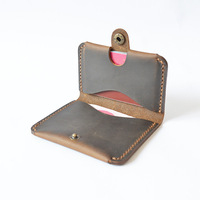 Handmade Genuine Leather Men Id Credit Card Wallet Designer Retro Wallet for Credit Cards Minimalist Wallet Cardholder