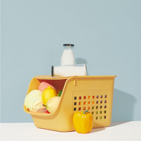Kitchen Creative Storage Basket Floor Can Be Multi layered Stacked Fruit and Vegetable Storage Basket Toy Box Storage Artifact