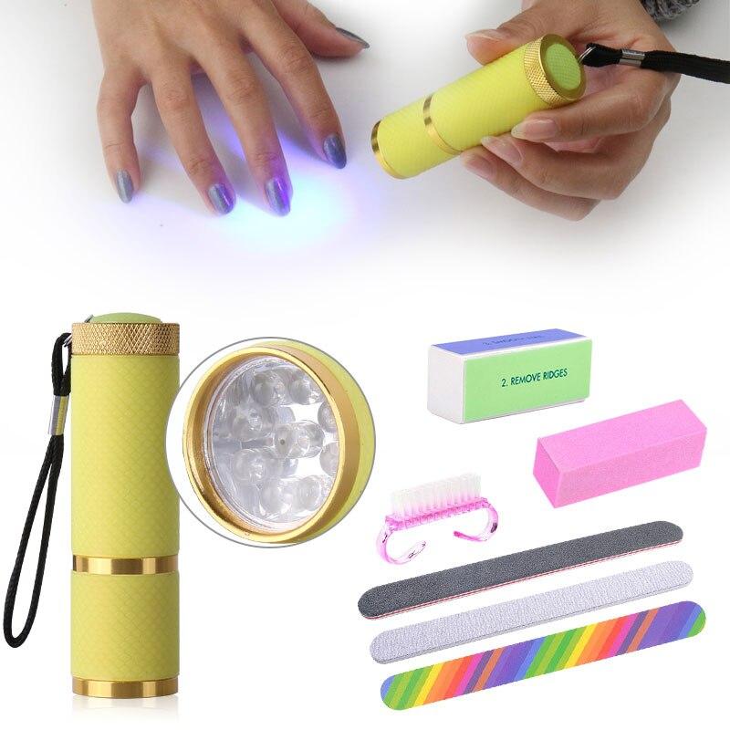 Belen Nail Art Tools Set Kit For UV Gel Varnish 9W