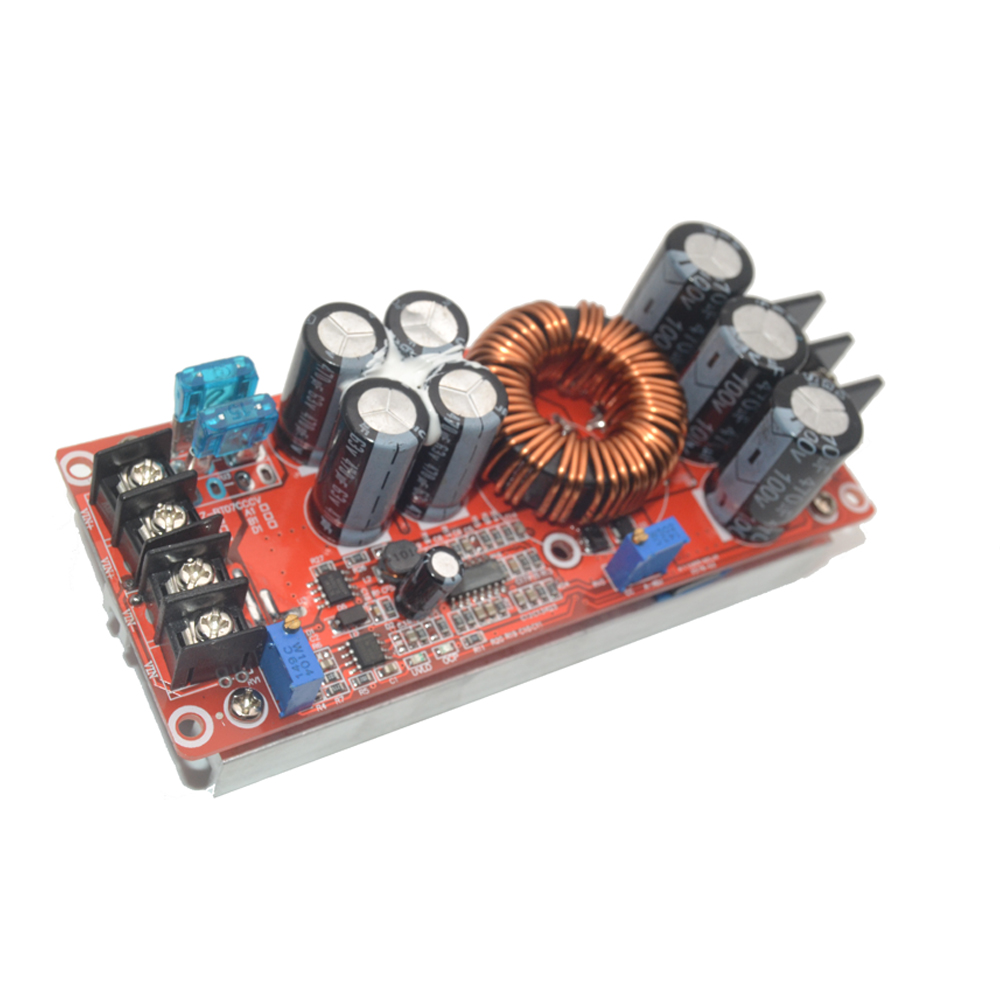 New 1200W 20A DC Converter Boost Step-up Power Supply Module IN 8-60V OUT 12-83V pcf8591 8 bit a d d a converter module