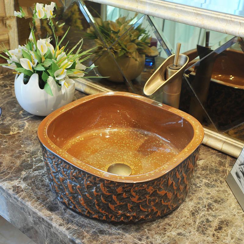 europa estilo hecho a mano de cermica encimera lavabo bao cuenca lavabo lavabo de cermica de