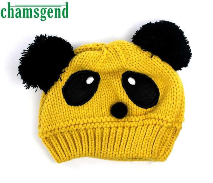 f6786af18cd ... CHAMSGEND drop shipping snapback caps PC Fashion Cute Baby Kids Girls  Boys Stretchy Warm Winter Panda ...