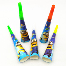 6pc Cartoon Minions Party Supplies Theme Noise Maker/whistle Boy Favor Horn Birthday Baby Shower Decoration Whistles
