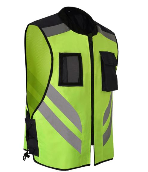 New high light Sports safety warning vest fluorescent riding clothes motorcycle reflective vests Reflective jackets цена