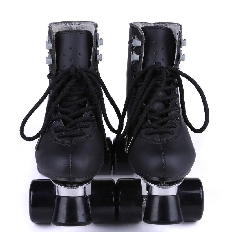 RENIAEVER Classic Black High Top Roller skates black polyurethane wheels metal base Free shipping