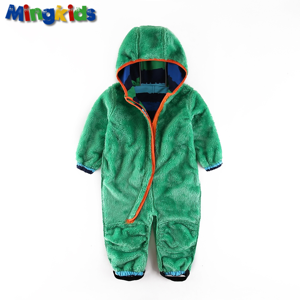 Image 3 - UmkaUmka Boy softshell romper water repellent and windproof to mid season hooded zipper baby clothes best sell-in Rompers from Mother & Kids
