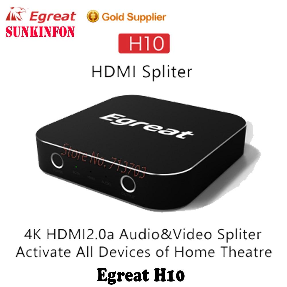 Heim-audio & Video Home Entertainment-system 5 Teile/los Egreat H10 4 Karat Uitrahd Uhd Video Audio Splitter Unterstützung Hdr Dolby True Hd Dts Dts-hd Master Dolby Atmos Heimkino Sparen Sie 50-70%