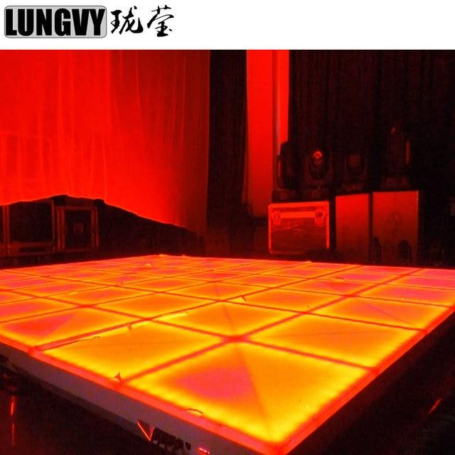 1M*1M Led Dance Floor DMX 512 RGB Full Color Led Wedding Cheap Dance Panel for Party Garden Hotel Decoration