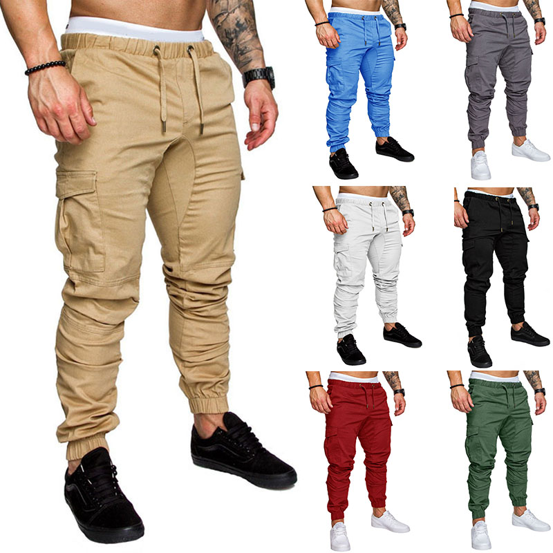Casual Summer Autumn Mens Pants Jogger Pant Mens Fitness Bodybuilding Gyms Pants Runners Clothing Sweatpants Plus Size 3XL