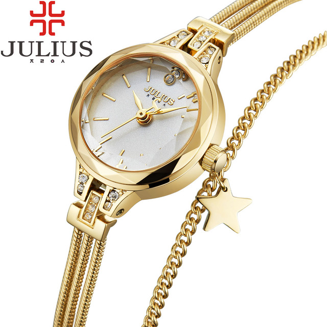 1a670f3412c 2017 JULIUS Luxury Gold Women Watches Steel Ladies Bracelet Watch Women  Clock Girl Dress Wristwatch Montre