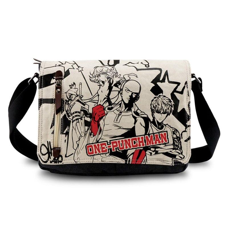 2016 Hot Anime Messenger Bag One Punch Man Saitama Sensei Shoulder Bag AB184