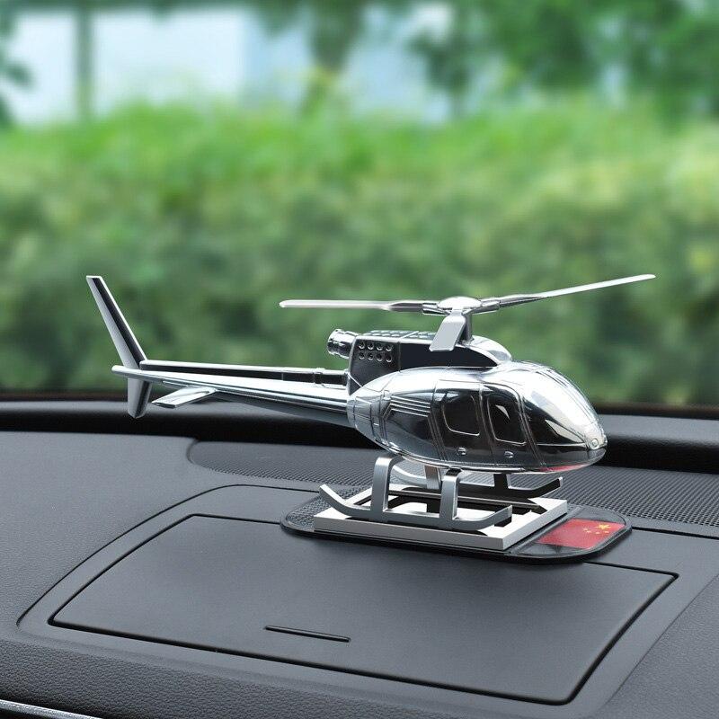 NUOVO Forniture Per Auto Aereo Elicottero Creativo Decorazione In Metallo di Alta qualità del Regalo di Energia solare Auto Fragranza del Profumo Auto Aereo Ornamento