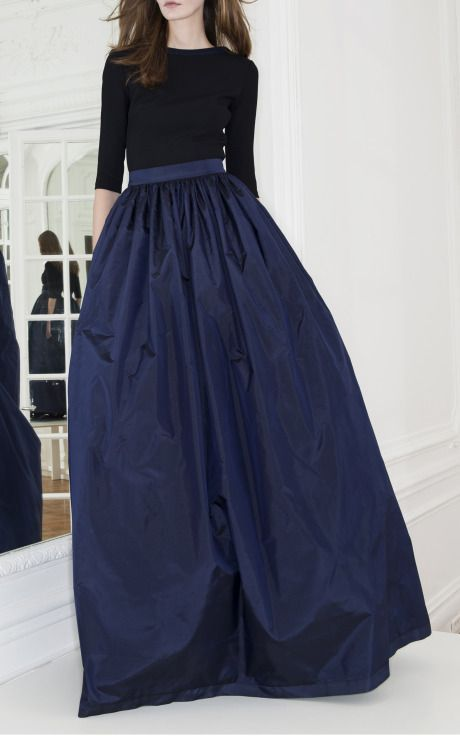 Maxi Navy Blue Skirt | Jill Dress